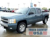 2008 Blue Granite Metallic Chevrolet Silverado 1500 LT Crew Cab 4x4 #54964017