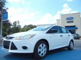 2012 Oxford White Ford Focus S Sedan #55018936