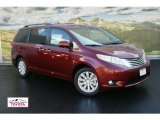 2012 Salsa Red Pearl Toyota Sienna Limited AWD #55018781