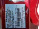 2006 Mustang Color Code for Redfire Metallic - Color Code: G2