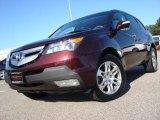 2008 Dark Cherry Pearl Acura MDX Technology #55073412