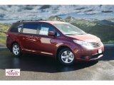2012 Salsa Red Pearl Toyota Sienna LE #55073375