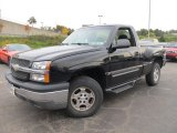 2003 Black Chevrolet Silverado 1500 LS Regular Cab 4x4 #55101354