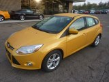 Yellow Blaze Tricoat Metallic Ford Focus in 2012