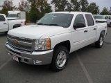 2012 Summit White Chevrolet Silverado 1500 LT Crew Cab 4x4 #55101675