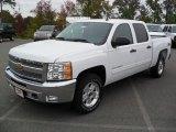 2012 Summit White Chevrolet Silverado 1500 LT Crew Cab 4x4 #55101674