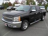 2012 Black Chevrolet Silverado 1500 LT Crew Cab 4x4 #55101673