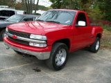 2002 Victory Red Chevrolet Silverado 1500 LS Regular Cab 4x4 #55138165