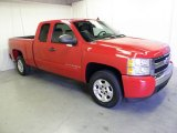2008 Victory Red Chevrolet Silverado 1500 LT Extended Cab #55138423