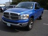 2008 Electric Blue Pearl Dodge Ram 1500 Big Horn Edition Quad Cab 4x4 #55138018