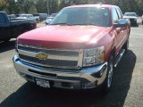 2012 Victory Red Chevrolet Silverado 1500 LT Extended Cab 4x4 #55137990