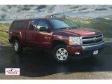 2008 Deep Ruby Metallic Chevrolet Silverado 1500 LT Extended Cab 4x4 #55137953