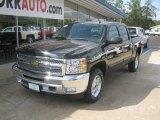 2012 Black Chevrolet Silverado 1500 LT Crew Cab 4x4 #55138556
