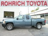 2007 Blue Granite Metallic Chevrolet Silverado 1500 Work Truck Extended Cab 4x4 #55189314