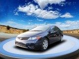 2007 Royal Blue Pearl Honda Civic LX Coupe #55189295