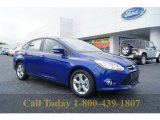 2012 Sonic Blue Metallic Ford Focus SE Sport Sedan #55188823