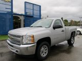 2012 Silver Ice Metallic Chevrolet Silverado 1500 Work Truck Regular Cab 4x4 #55188733