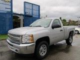 2012 Silver Ice Metallic Chevrolet Silverado 1500 Work Truck Regular Cab 4x4 #55188733