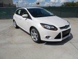 2012 White Platinum Tricoat Metallic Ford Focus Titanium 5-Door #55188914