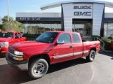 2000 Victory Red Chevrolet Silverado 1500 LS Extended Cab 4x4 #55188870