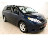 2011 South Pacific Blue Pearl Toyota Sienna LE #55236145