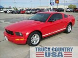 2005 Torch Red Ford Mustang V6 Deluxe Coupe #55236120