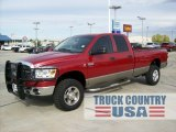 2008 Inferno Red Crystal Pearl Dodge Ram 3500 SLT Quad Cab 4x4 #55236119