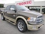 2012 Sagebrush Pearl Dodge Ram 1500 Laramie Longhorn Crew Cab 4x4 #55235856