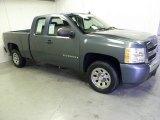 2008 Blue Granite Metallic Chevrolet Silverado 1500 LS Extended Cab #55236076