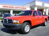 2004 Flame Red Dodge Dakota SXT Quad Cab #5512179