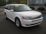 2010 White Platinum Tri-Coat Metallic Ford Flex SEL AWD #55235968