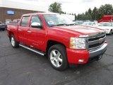 2008 Victory Red Chevrolet Silverado 1500 LT Crew Cab 4x4 #55235696