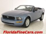 2007 Windveil Blue Metallic Ford Mustang V6 Premium Convertible #5510354