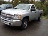 2012 Silver Ice Metallic Chevrolet Silverado 1500 LS Regular Cab 4x4 #55283604