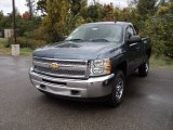 2012 Blue Granite Metallic Chevrolet Silverado 1500 Work Truck Regular Cab 4x4 #55283603