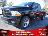 2012 Black Dodge Ram 1500 Express Quad Cab #55283317