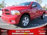2012 Flame Red Dodge Ram 1500 Express Quad Cab #55283316