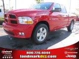 2012 Flame Red Dodge Ram 1500 Express Quad Cab #55283314