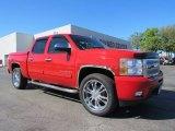 2009 Victory Red Chevrolet Silverado 1500 LTZ Crew Cab #55283576