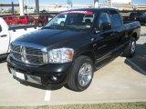 2007 Brilliant Black Crystal Pearl Dodge Ram 1500 Laramie Quad Cab #55283516