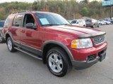 Redfire Metallic Ford Explorer in 2003