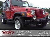 2006 Flame Red Jeep Wrangler Sport 4x4 #55332646