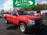 2008 Victory Red Chevrolet Silverado 1500 Work Truck Regular Cab 4x4 #55332765