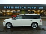 2010 White Suede Ford Flex SEL EcoBoost AWD #55332589