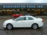 2010 White Platinum Tri-coat Metallic Ford Fusion SEL V6 AWD #55332587
