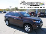 2011 Dark Cherry Kia Sorento LX AWD #55365337