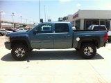 2009 Blue Granite Metallic Chevrolet Silverado 1500 LTZ Crew Cab 4x4 #55365319
