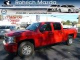 2009 Victory Red Chevrolet Silverado 1500 LT Crew Cab 4x4 #55365125