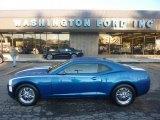 2010 Aqua Blue Metallic Chevrolet Camaro LS Coupe #55365286