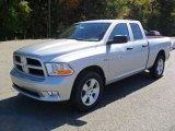 2012 Bright Silver Metallic Dodge Ram 1500 Express Quad Cab #55365405